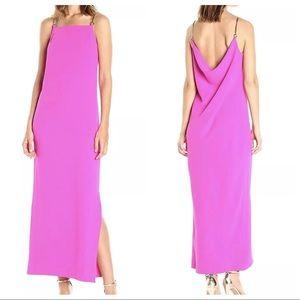 $298 Trina Turk Chain Strap Maxi Dress Sz 2 Pink